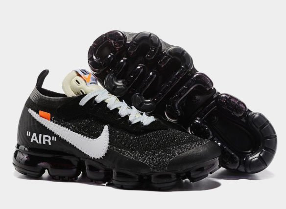Фото OFF-WHITE x Nike Air Vapormax черные - 1